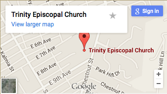 map to trinity episcopal church escondido CA