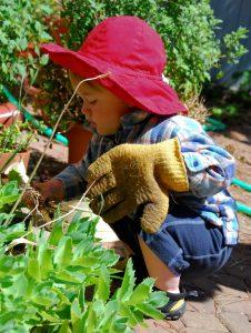Sunday School: Children Plant Garden